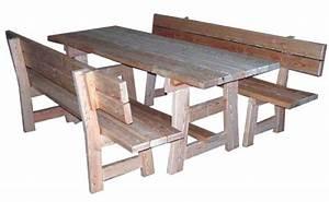 Table Et Banc En Bois : ht ~ Melissatoandfro.com Idées de Décoration