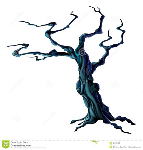 spooky halloween tree royalty  stock images image
