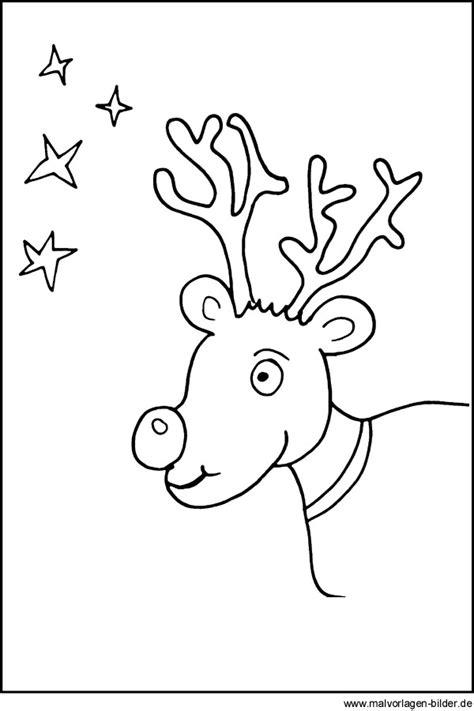malvorlagen rentier weihnachten und sterne