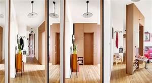 Cloisons Mobiles : id e cloison un meuble porte totalement mobile maison ~ Melissatoandfro.com Idées de Décoration