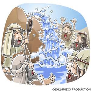 Moses Water From Rock Clip Art