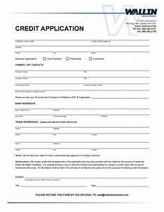 free business credit application template With commercial credit application template