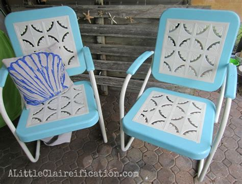 metal patio furniture makeover a restoration hardware rescue a claireification