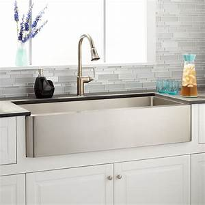 39quot hazelton stainless steel farmhouse sink kitchen With 39 inch farmhouse sink