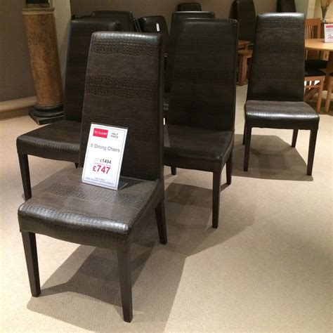 6 crocodile skin style dining chairs clearance