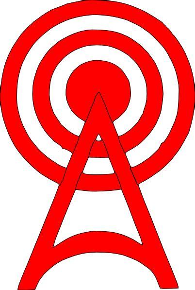red radio tower icon clip art  clkercom vector clip