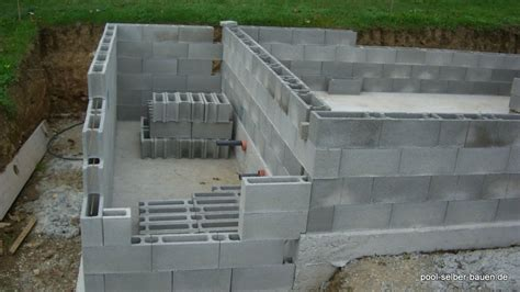 Mauer Selber Mauern tipps pool mit schalsteinen selber mauern pool selber