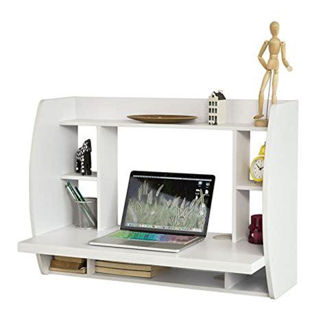 bureau murale sobuy fwt18 w table murale bureau avec étagère intégrée