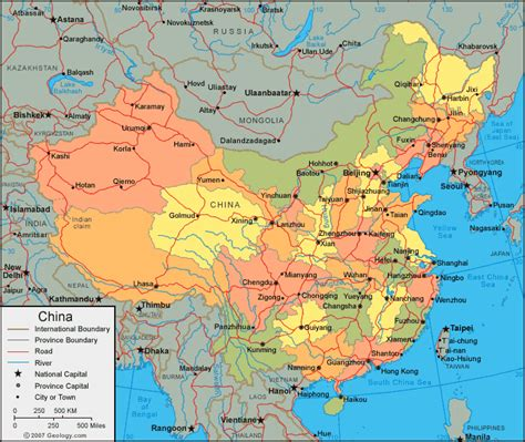 chinese cities map   printable major china