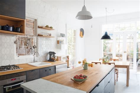 Marble And Butcher Block Countertops by Remodeling 101 All About Butcher Block Countertops