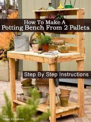 how to build a potting bench build your own potting bench from wood pallets