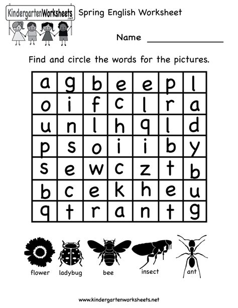 english worksheets  kindergarten worksheet mogenk