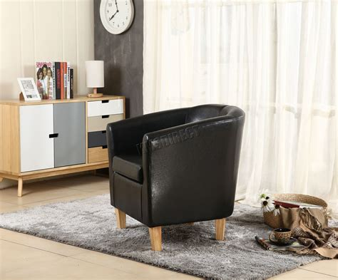 Westwood Faux Leather Pu Tub Chair Armchair Dining Room
