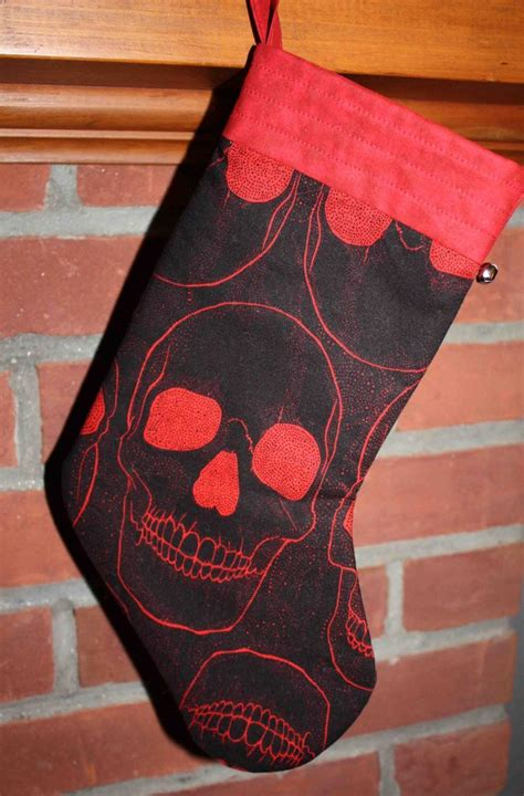 Black and Red Christmas Stocking