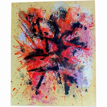 Abstract 50s Lithograph Century Mid Famous Artist