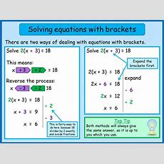 Solving Equations With Brackets (linear)  Mnm For Students