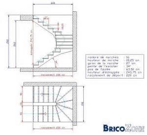 Dimension Escalier Droit Beton by Mesure Escalier Demi Tournant