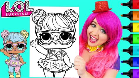 coloring lol surprise dolls bon bon coloring page prismacolor markers kimmi  clown youtube