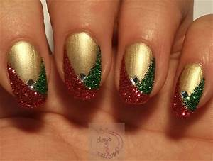 Easy glitter christmas nails by daysofnailartnl from nail