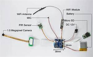 Mini Diy Wifi Wireless Pir Motion Detect P2p Ip Camera