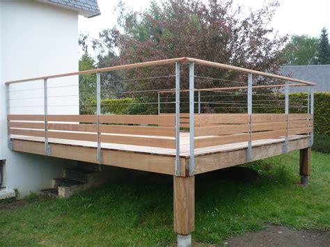 garde corps pour terrasse exterieur garde corps terrasse bois inox