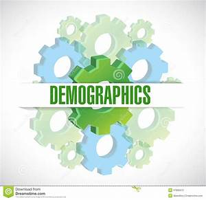 Gears Demographics Sign Illustration Stock Illustration