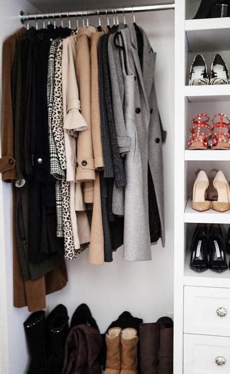 Closet With Leather Coats Storage  Transitional Closet