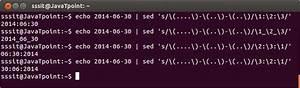 Linux Sed Regular Expression