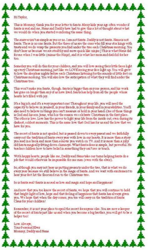 letter to child about santa i think i m as ready as i m this is my favorite of all the letters about if santa is 70020