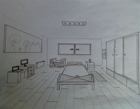 chambre en perspective dessin chambre en perspective avec point de fuite solutions