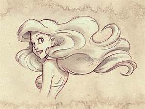 princess ariel drawing | Art inspiration | Pinterest