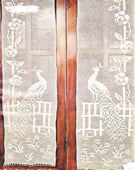 rideaux en crochet filet quot paon et fleurs quot avec tutoriel
