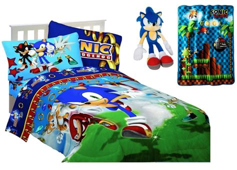 Kids Boys Sega Sonic The Hedgehog Reversible Comforter Set