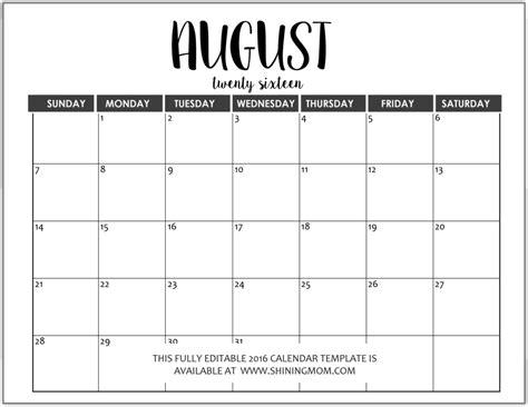 Calendar Template Word Just In Fully Editable 2016 Calendar Templates In Ms Word