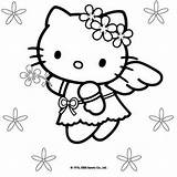 Coloring Kitty Hello sketch template