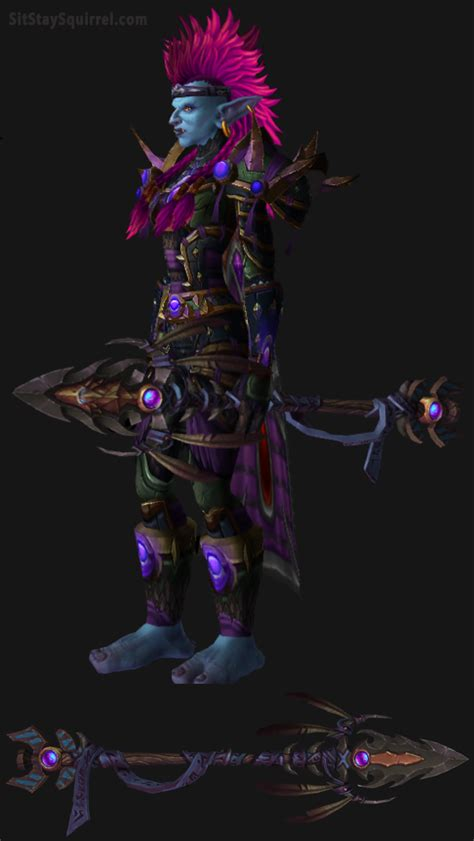 transmog wow hunter troll female survival mage warcraft legion hunters sets artifact goblin gear purple workouts elf cool leather cacadores