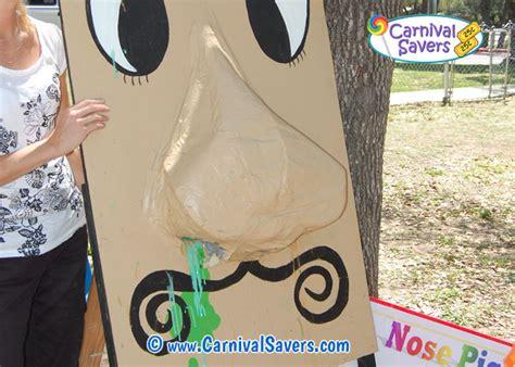unique carnival game idea nose pick carnival game