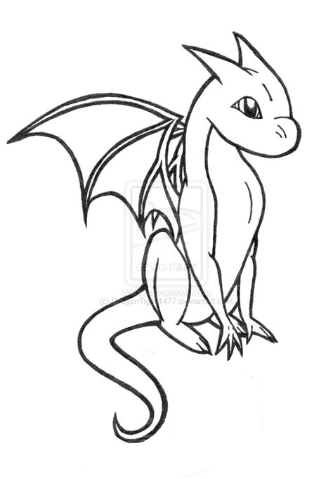 Baby dragon coloring pages to download and print for free