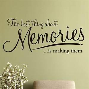 Memories wall art sticker wa x