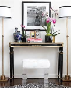 Console Table with Floor Lamps