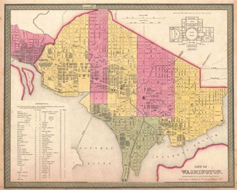 1847 Map of Washington Ghosts of DC