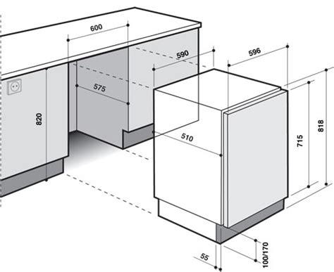 caisson meuble cuisine sans porte de dietrich lave linge dlz714w