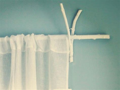 17 best ideas about branch curtain rods on