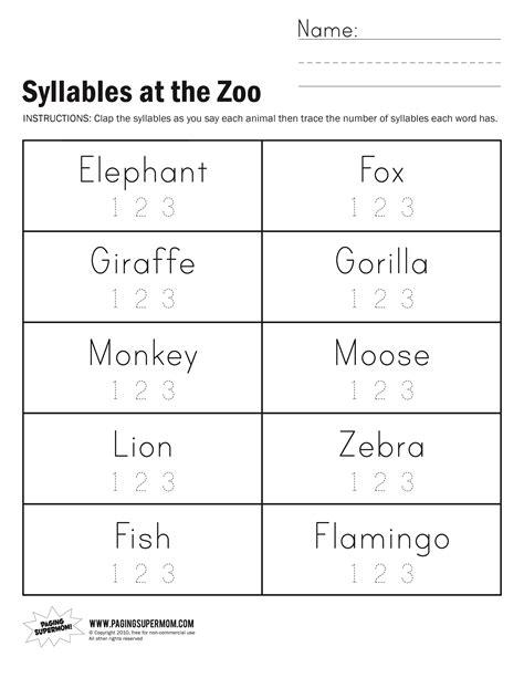 free zoo worksheets for preschoolers homeshealth info