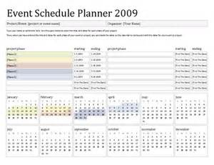 Event Planning Schedule Template