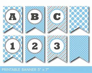 blue birthday banner printable blue party banner banner With party banner letters
