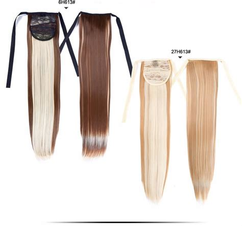 Alileader Synthetic Ponytail Long Straight Hair 1622 Clip