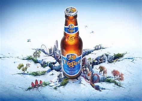 quenching ad designs  tiger beer