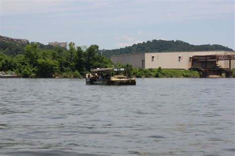 Chattanooga Duck Boat Ride by A Tribute To The Indians With The Tn Aquarium In