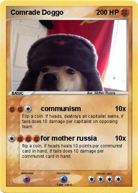Pokémon Comrade Doggo Communism My Pokemon Card